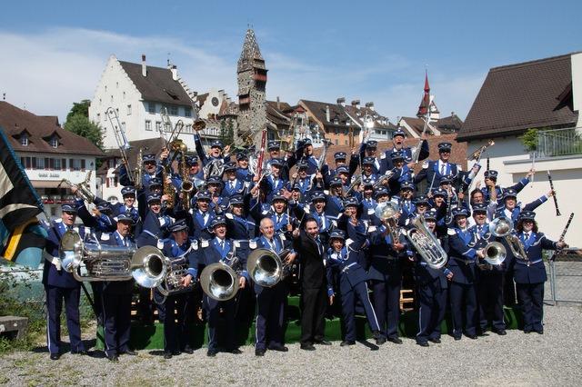 Der letzte Auftritt mit einer blauen Uniform am Kant. Musikfest in Bremgarten 2008